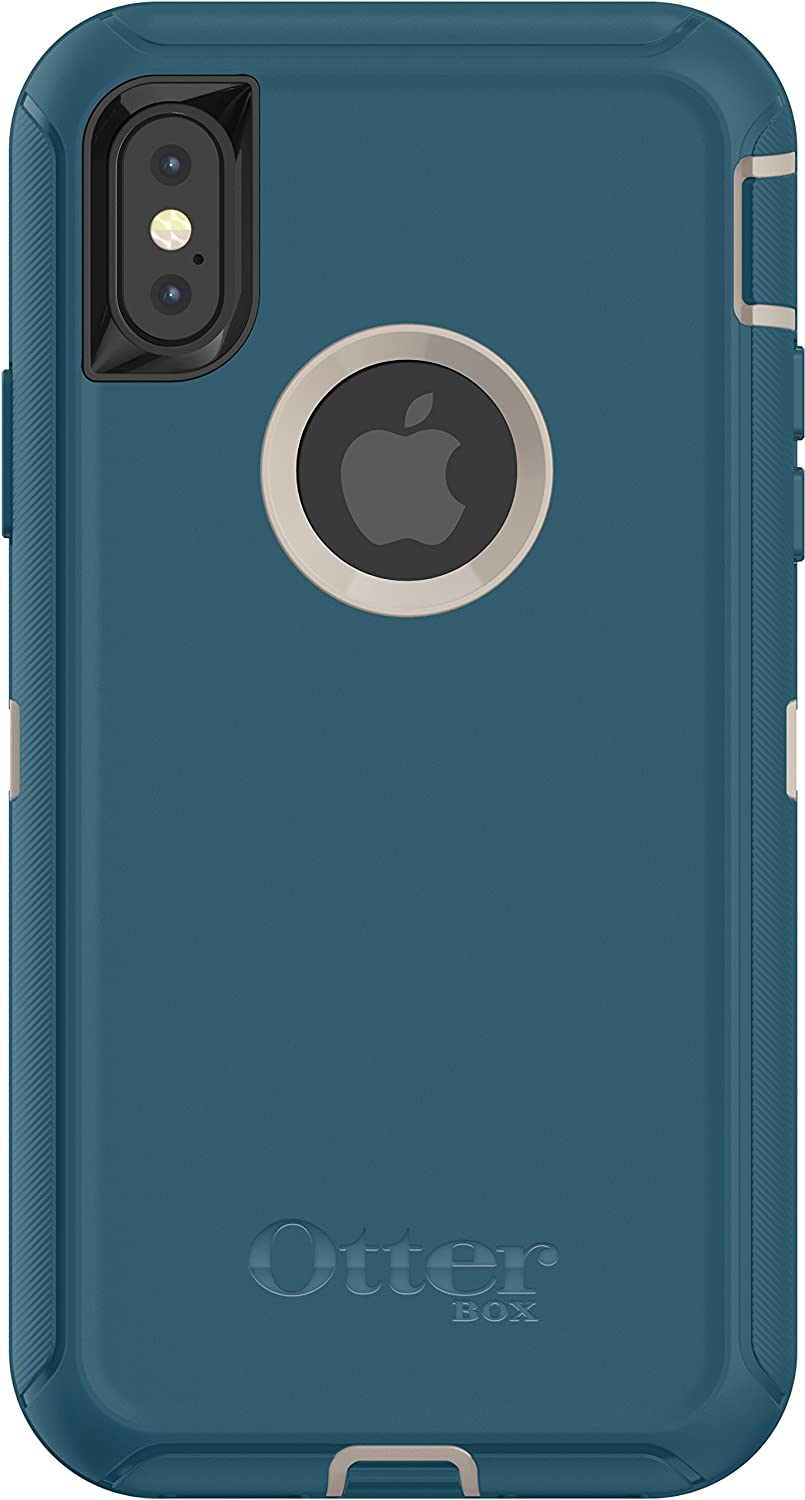 OtterBox DEFENDER SERIES Case for iPhone X/10 (Case Only - No Holster) PALE BEIGE/CORSAIR