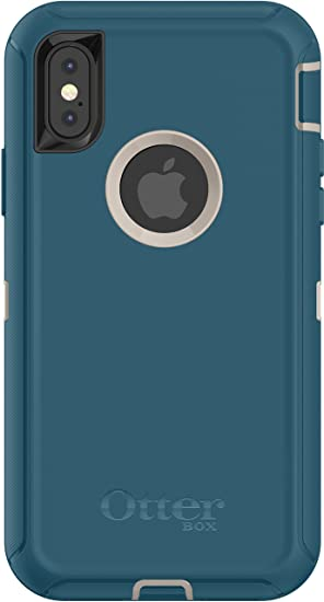 online retailer 21961 e8cca OtterBox DEFENDER SERIES Case for iPhone X/10 (Case Only - No Holster) PALE  BEIGE/CORSAIR