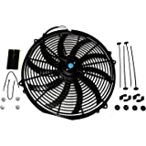 A-Team Performance 130031 Electric Radiator Cooling Fan Cooler Heavy Duty Wide Curved 10 S Blades 12V 3000 CFM Reversible Pus