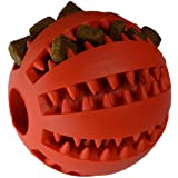 Zenify Puppy Toys Dog Toy Puppy Treat Training Behaviour Ball - Interactive Stimulation Gift for Smarter Dogs and Puppies (Red (Large))