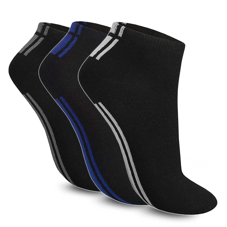 12-24-48 Socken / Sneaker / Sportsocken / Füßlinge / Freizeit / Tennis / Herren - Schwarz (12 Paar, Größe: 39 - 42)