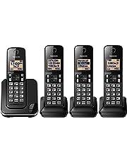 Panasonic KXTGC384B Dect_6.0 4-Handset Landline Telephone