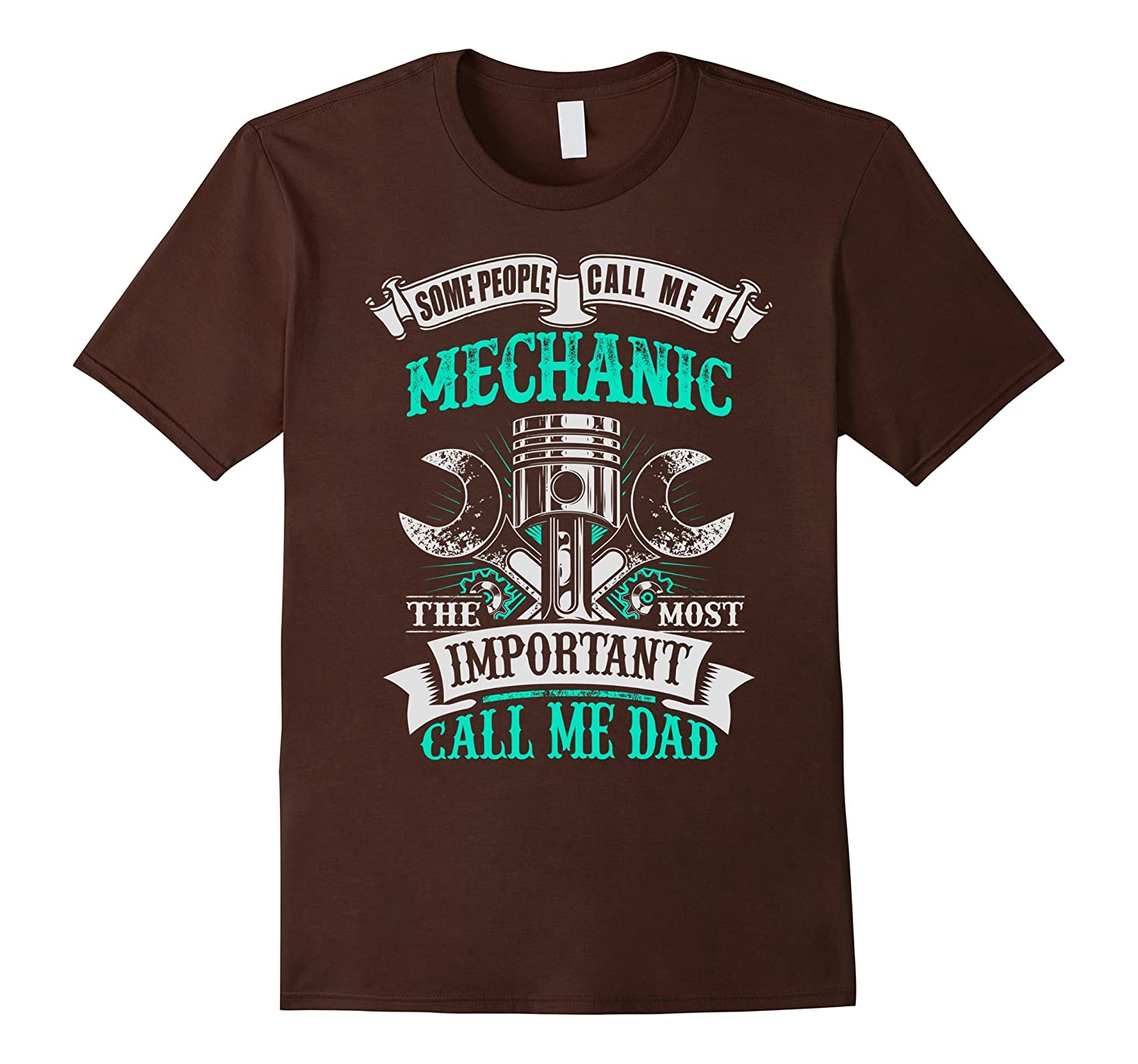 Mens Mechanic Dad Gift for Fathers Day T Shirt-PL