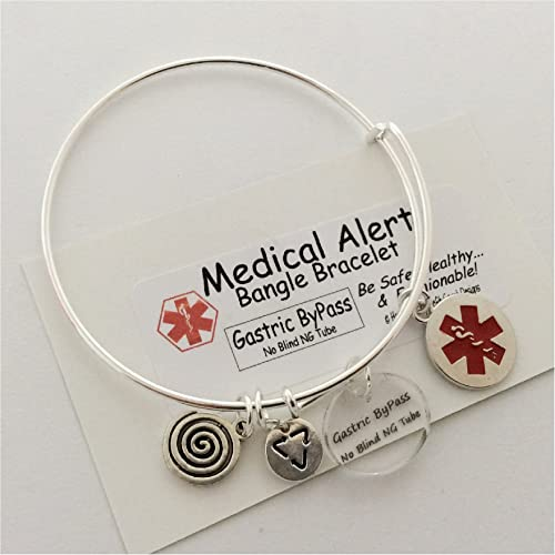 Amazon.com: Medical Alert Bypass gástrico Encanto, Bangle ...