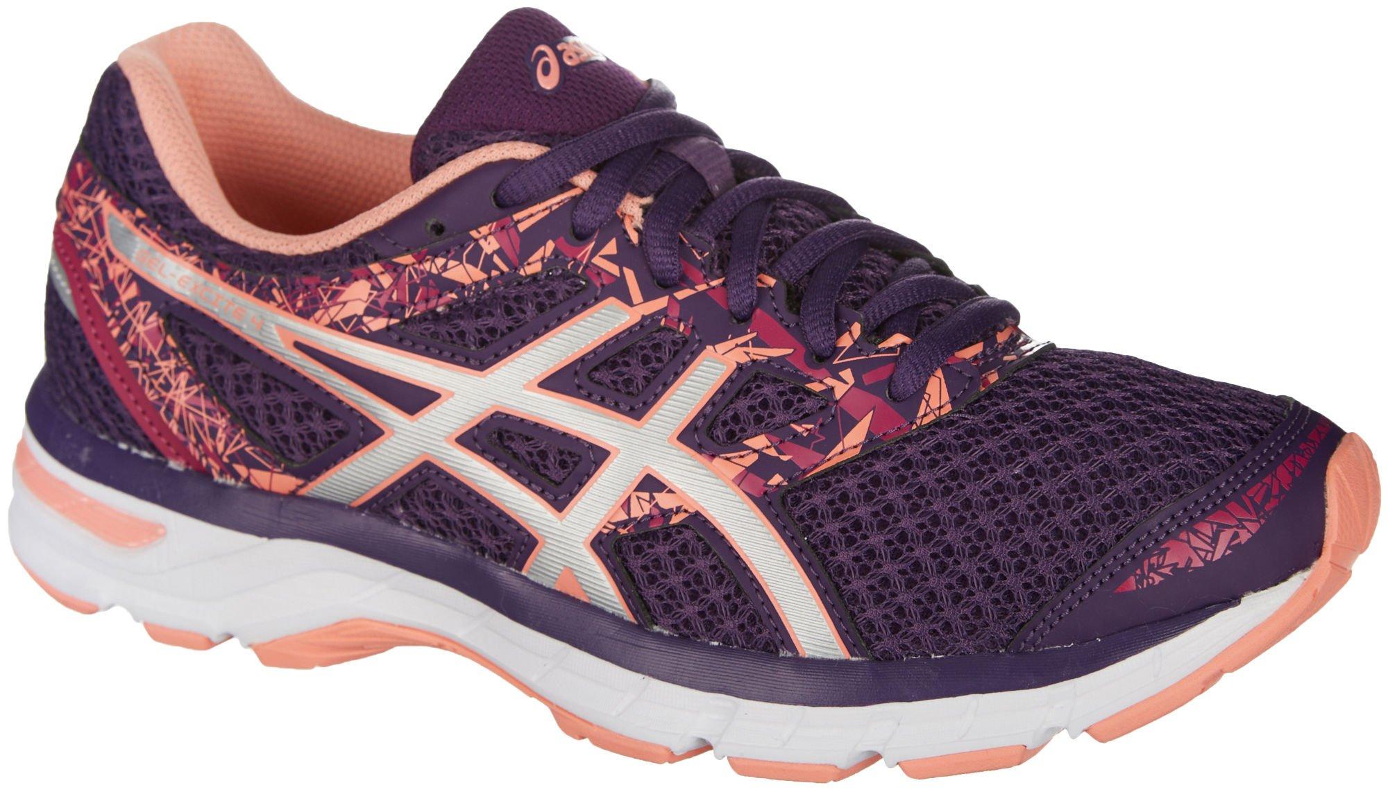 ASICS Womens Gel-Excite 4 Running Shoe, Grape/Silver/Begonia Pink, 8 B(M) US