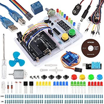 Smraza para Arduino Uno R3 Starter Kit con Breadboard Holder, Motor DC y Tutorial detallado Compatible con Arduino Uno Mega 2560 Mega328 Nano: Amazon.es: ...