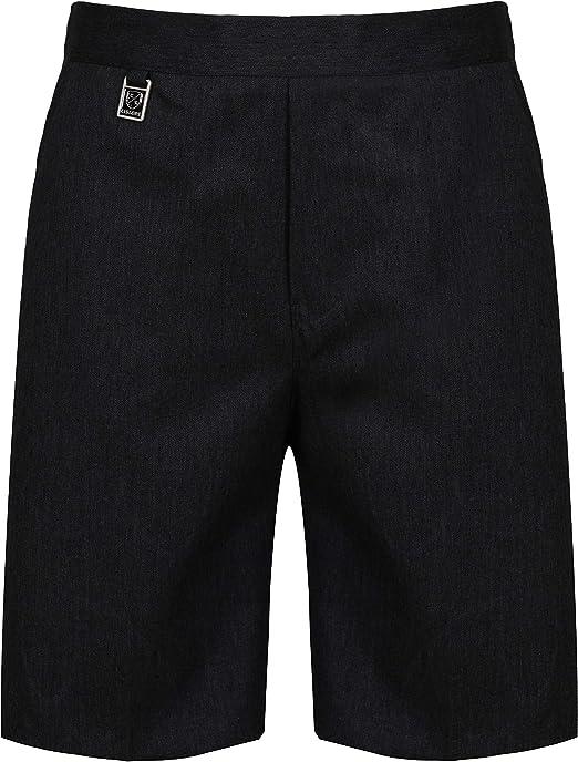 Boys Pull On School Shorts Pull Up Age 2 3 4 5 6 7 8 9 10 11 12 13 Black Grey