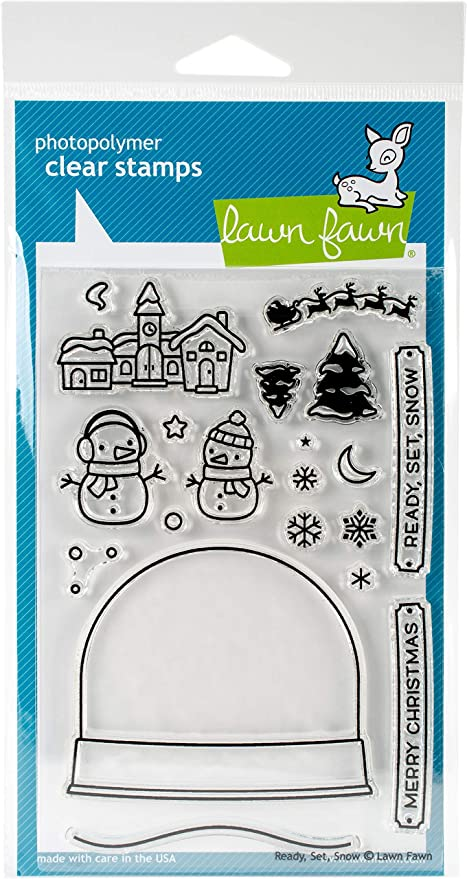 Set Lawn Fawn Clear Stamps Snow LF973 Ready
