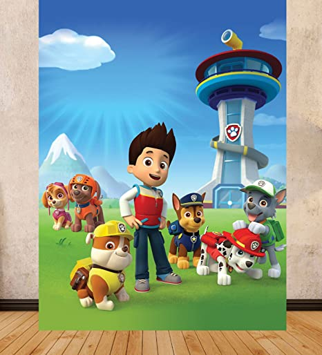 PARTY SCENE SETTER PAW PATROL LARGE DIGITAL PRINT BIRTHDAY BACKGROUND BACKDROP 15m X 2m