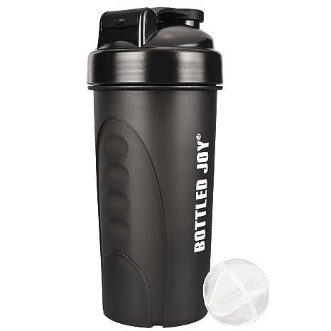 BOTTLED JOY Botella de batidora de proteínas Botelted Joy, botella de agua para fitness,