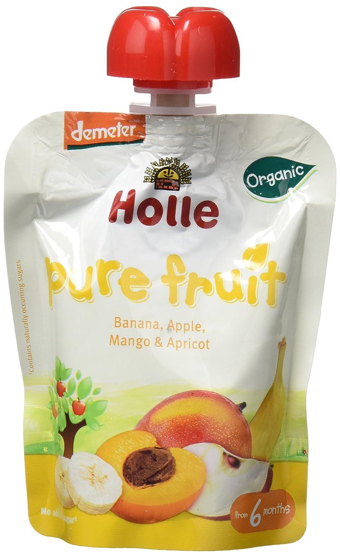 Holle Smoothie Plátano, Manzana, Mango con Albaricoque (+6 meses) - Paquete de 12 x 90 gr - Total: 1080 gr: Amazon.es: Alimentación y bebidas