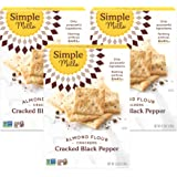 Simple Mills Almond Flour Crackers, Black Cracked Pepper, Gluten Free, Flax Seed, Sunflower Seeds, Corn Free, Good for Snacks