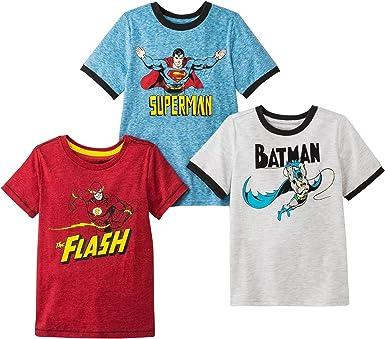 Kids Baby Boys Batman Superman Spiderman T-shirts Superhero Top Shirts age 3-13Y