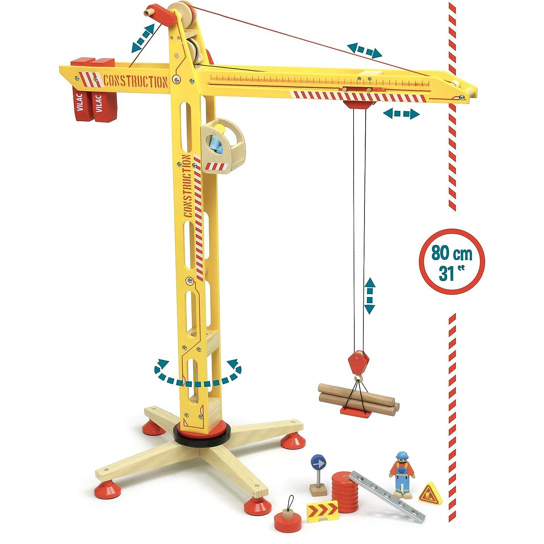 Vilac – 2343 – Kran aus Holz, groß: Amazon.de: Spielzeug