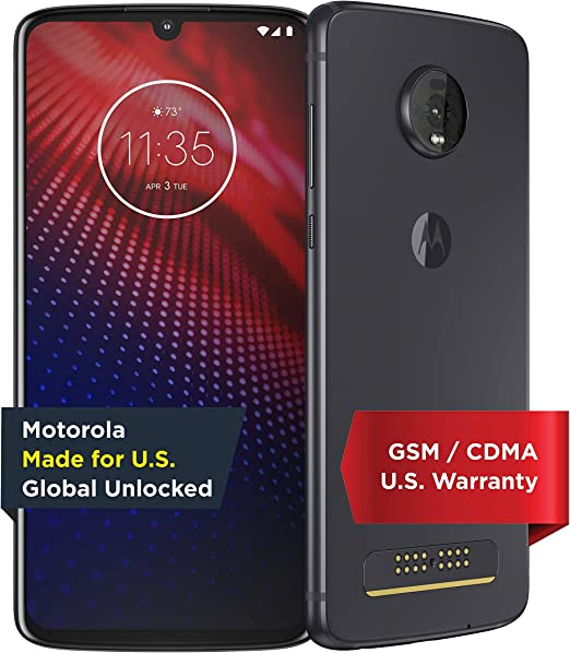 Amazon Com Moto Z4 Unlocked 128 Gb Flash Gray Us Warranty Verizon At T T Mobile Sprint Boost Cricket Metro Paf60007us