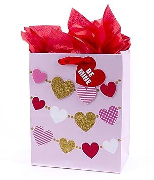 Amazon Com Hallmark Medium Valentine S Day Gift Bag With Tissue