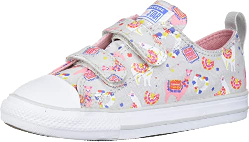 Converse Kids' Chuck Taylor All Star Llama Print Velcro Low Top Sneaker