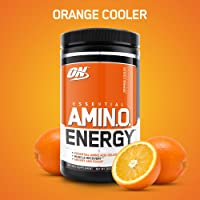OPTIMUM NUTRITION ESSENTIAL AMINO ENERGY, Orange Cooler, Preworkout and Essential Amino Acids with Green Tea and Green Coffee Extract, 30 Servings