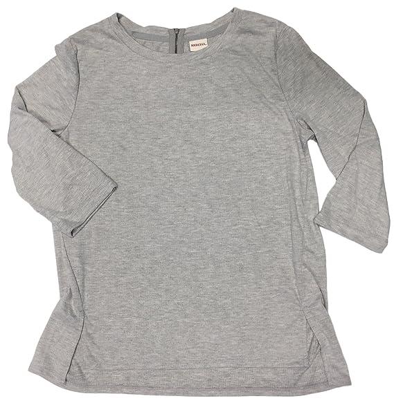 Masked Brand Merona Women s 3 4 Sleeve 1 4 Zip Back Pullover Sweater ... e37d1a51d