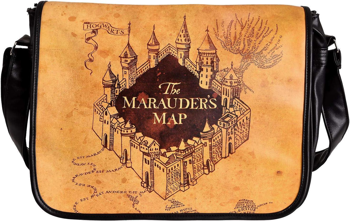 Mappa della Borsa di Harry Potter College del Marauder 40x33x11cm Foresta Elbe Beige Nera