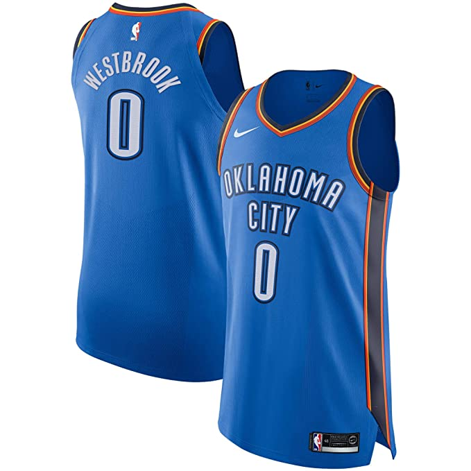 Nike OKC M Nk Auth JSY Road Camiseta 2ª Equipación Oklahoma ...