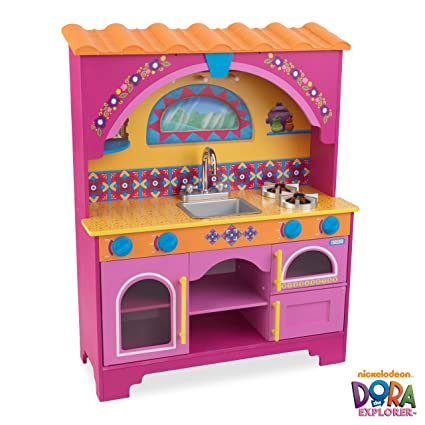 amazon com nickelodeon kidkraft dora the explorer kitchen toys games rh amazon com dora the explorer kitchen playset dora the explorer kitchen game