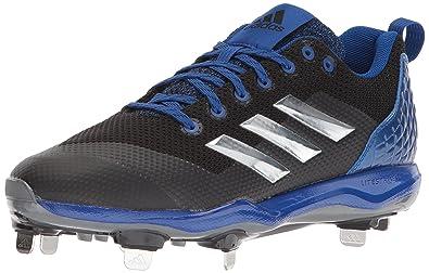 on sale d8967 cf424 adidas Mens Freak X Carbon Mid Baseball Shoe BlackMetallic  SilverCollegiate Royal 13