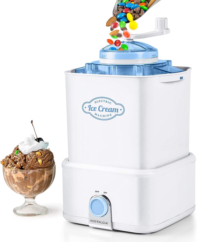 Nostalgia CICM2WB Electric Ice Cream Maker Crusher