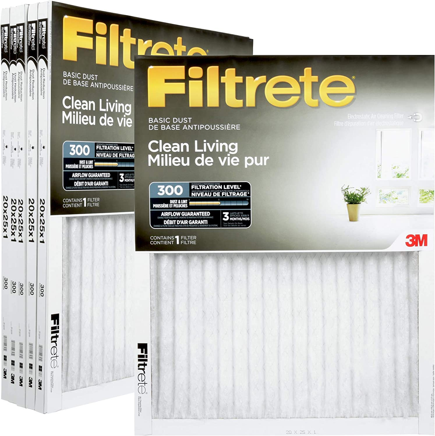 Nordic Pure 20x25x1 MERV 10 Pleated AC Furnace Air Filters 1 Pack