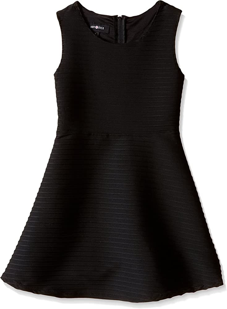 Amy Byer Girls Big Picture and Flare Textured Knit Dress