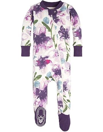 774d336018bf Burt s Bees Baby - Baby Girls Sleeper Pajamas