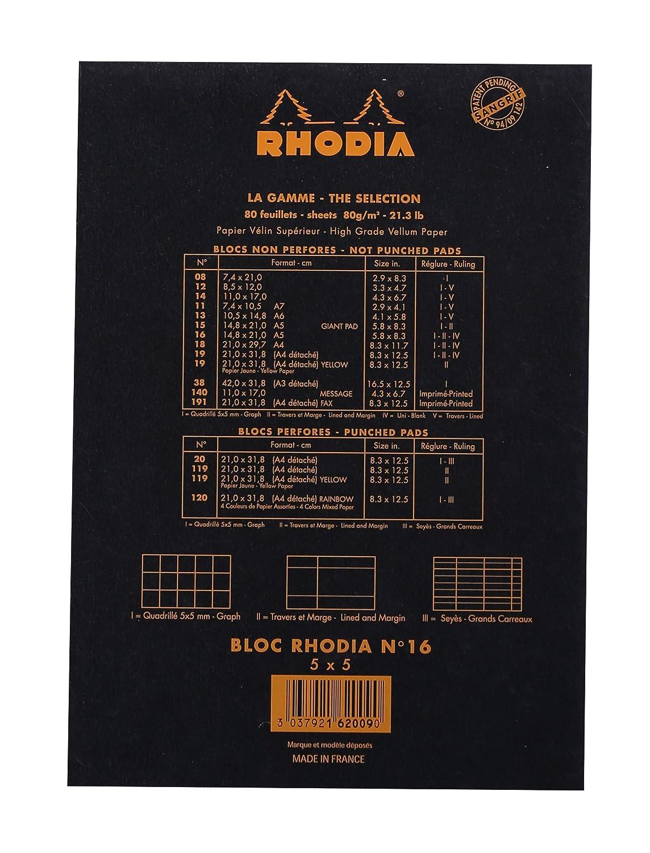 11 x 17 cm Taccuino Arancio Rhodia 14200C