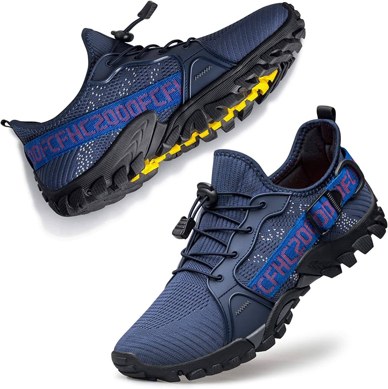 FANDEE Mens Minimalist Trail Runner Athletic Walking Jogging Sneakers Minimalist Shoes