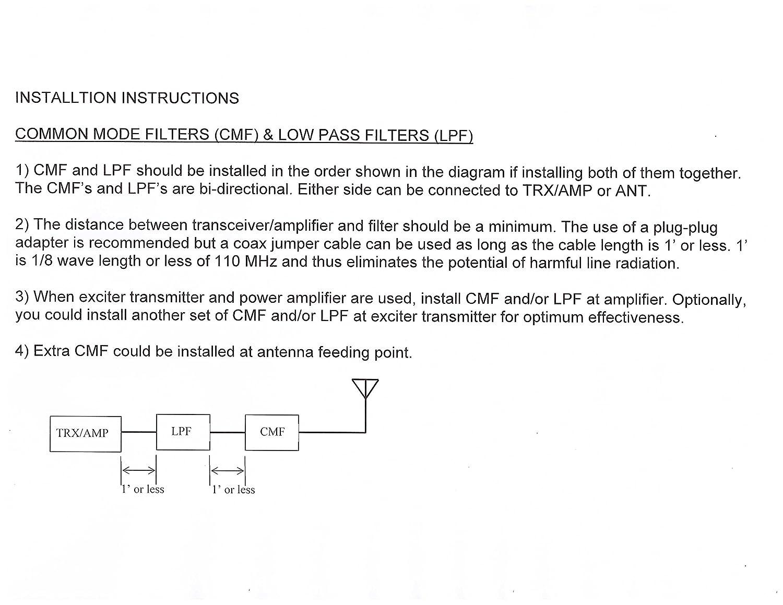 RF Inquiry CF250E 250W Amateur Ham CB 2-way Radio Hi-Q Common Mode
