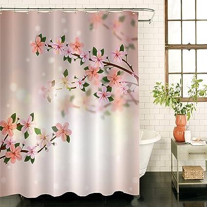 Amazon.com: MitoVilla Realistic Florals Shower Decorations, Stylish ...
