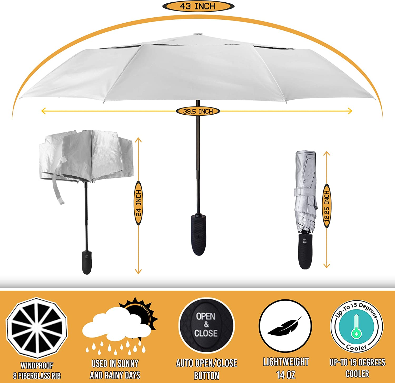 Umbrella Creative Personality Cute Duckling Umbrella Korean Style Female Student Sun Protection Sun Umbrella Sunshade Umbrella@20/% Off Blue