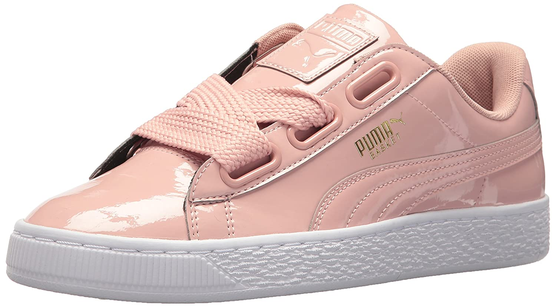 PUMA Women's Basket Heart Patent Wn Sneaker B0721J1FHS 7.5 B(M) US|Peach Beige-peach Beige