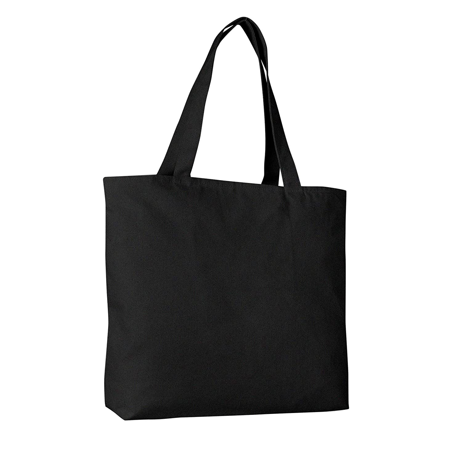 b67fe9a6dfa8 Amazon.com  Pack of 2 Heavy Duty Canvas Tote Bags with Zipper Top and  Zipper Inside Pockets  BagzDepot