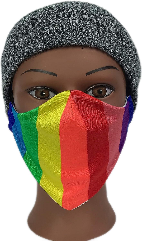 Amazon Com Face Masks Rainbow Mouth Cover Mask Washable Reusable