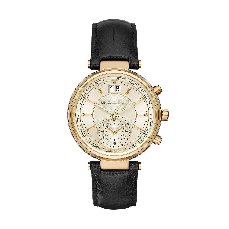 1f9907e7df24 Amazon   Michael KorsレディースSawyerブラック腕時計mk2433   レディース腕時計   腕時計 通販