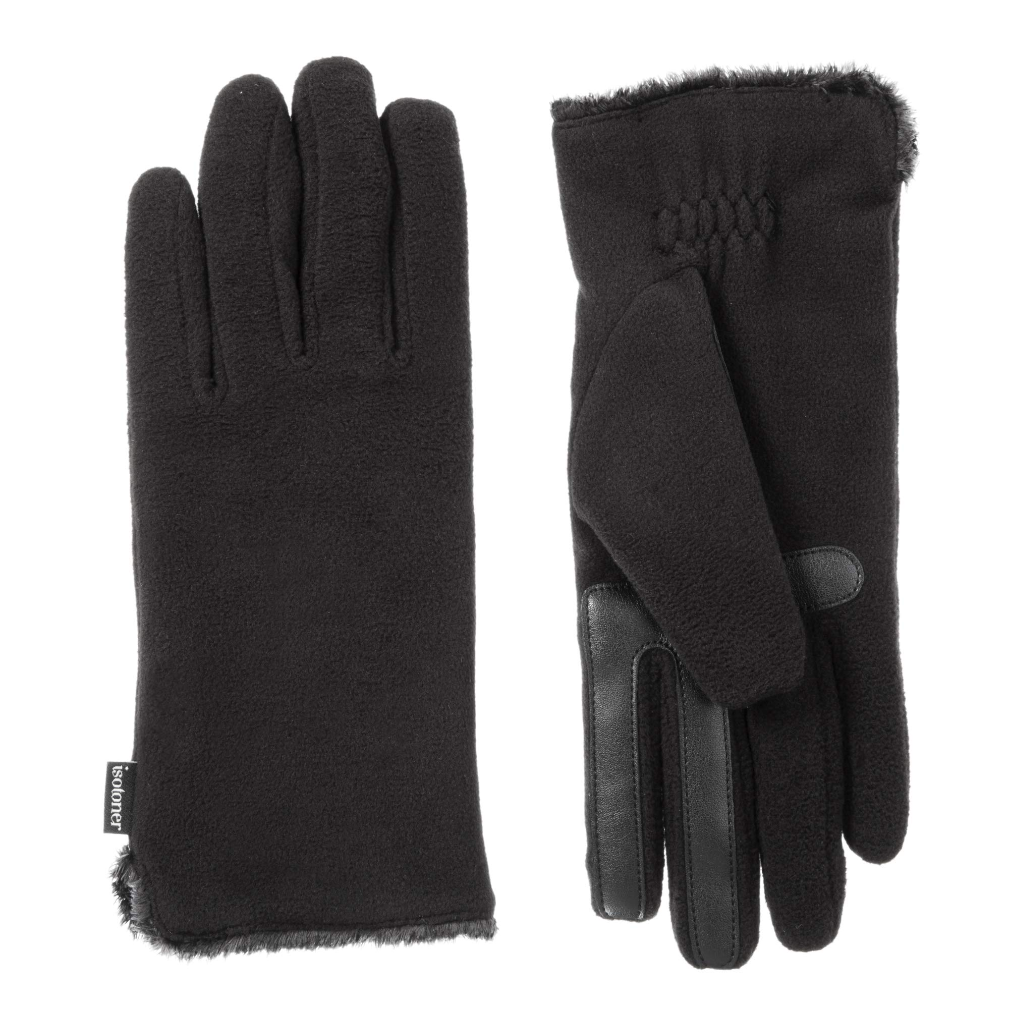 ISOTONER Women's Stretch Fleece Touchscreen Texting Cold Weather Gloves with Warm, Soft Lining by ISOTONER