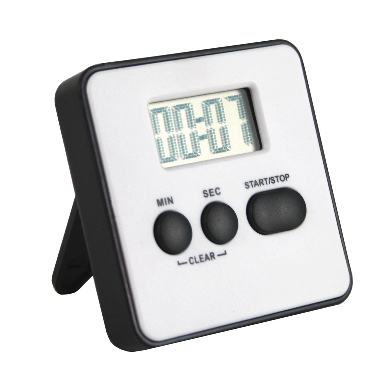 Digital LCD Küchentimer Farbe weiß . Küchen Timer Laufzeit 99 ...