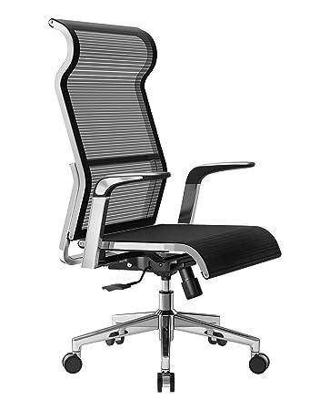 Bürostuhl comic  SIHOO Ergonomic Office Chair, Computer Desk Chair, Metal Frame with Large  Headrest and High-Back Mesh, Adjustable Swivel Task Chair (Black)