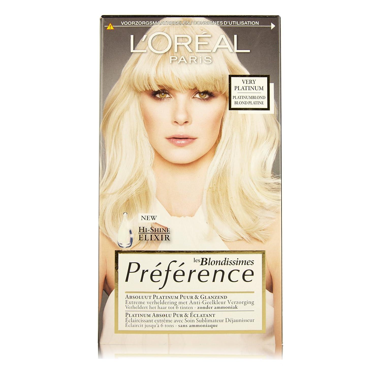 L'Oréal Paris Préférence Blondissimes Rubio coloración del cabello - Coloración del cabello (Rubio, Platinum 6 Levels, Bélgica, 55 mm, 93 mm) L' Oréal Paris