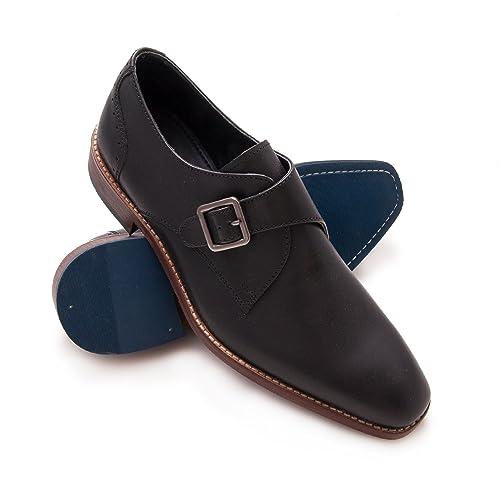 6c1d24b8216 Zerimar Zapato de Piel para Hombre Zapato Elegante para Hombre Color Negro  Talla 43  Amazon.es  Zapatos y complementos