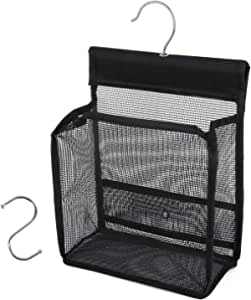 FishMM Hanging Mesh Shower Caddy College with Hooks Bath Baskets Organizer Storage for College Dorm Rooms Gym Swimming and Travel