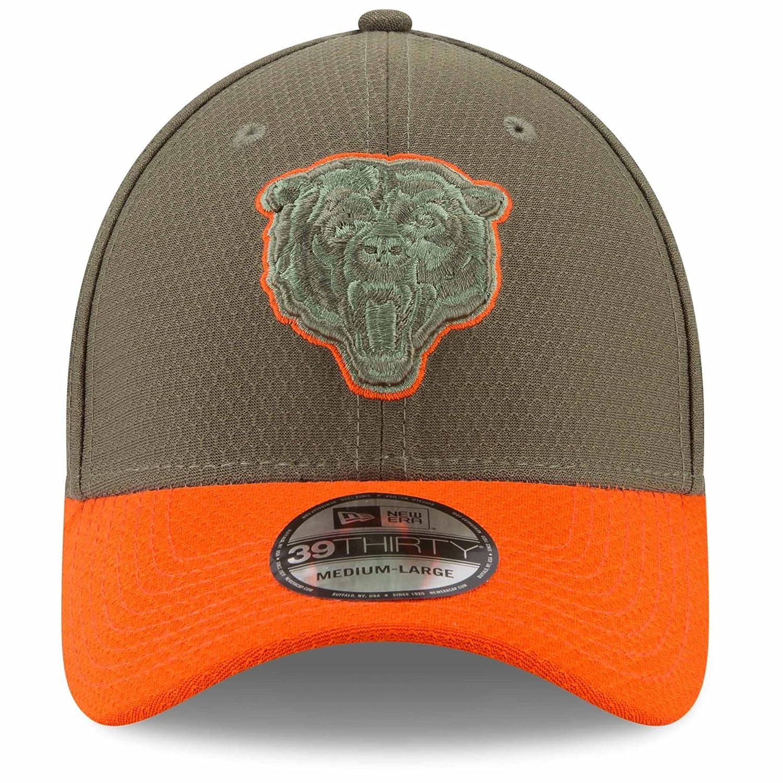 45bc12198878cc Amazon.com : New Era Chicago Bears NFL 2017 Salute to Service 39THIRTY Cap  : Clothing