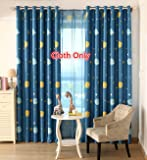 WPKIRA Window Treatment Kids Room Printed Blackout Curtains Room Darkening Thermal Insulated Grommet Top Planet Panel for Boys Bedroom , 1 Panel W40 x L63 inch