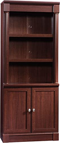 Sauder Palladia Library with Doors, Select Cherry finish