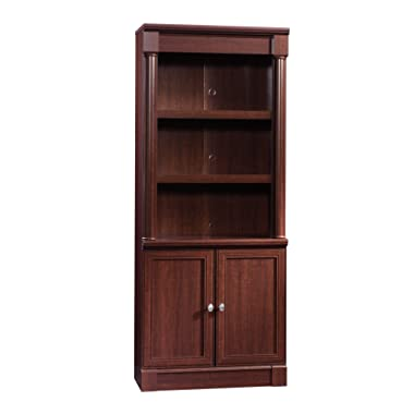 Sauder  Palladia Library with Doors, L: 29.370  x W: 13.898  x H: 71.850 , Select Cherry